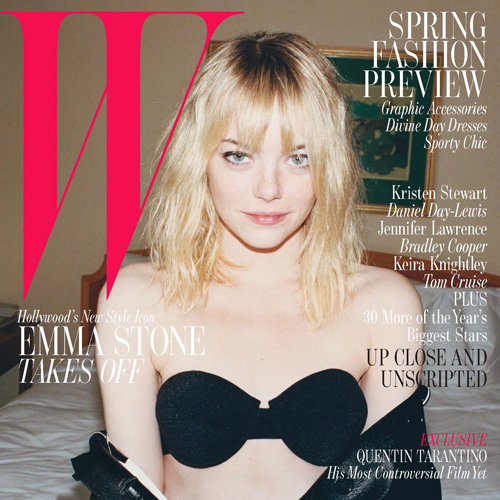 Interview: Emma Stone In Bra On Cover Of W Magazine