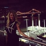 Jesinta Campbell had a night out in Brisbane. Source: Instagram user jesinta_campbell