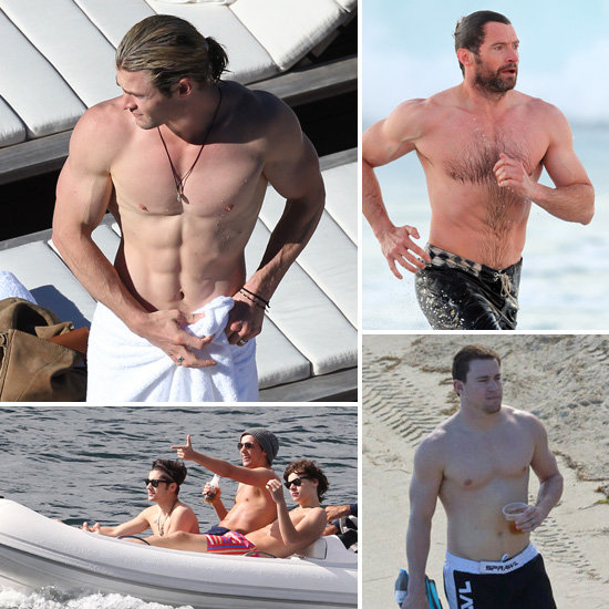 It's Hot in Here! Sexiest Shirtless Pics of Chris, Hugh and More