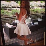 Rebecca Judd wore a J'Aton dress to the polo over the weekend. Source: Instagram user becjudd