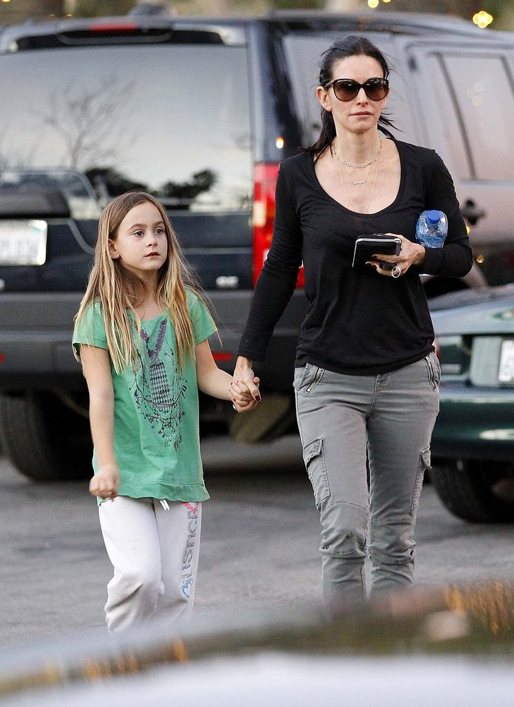 Courteney Cox and Coco Do a Malibu Market Run