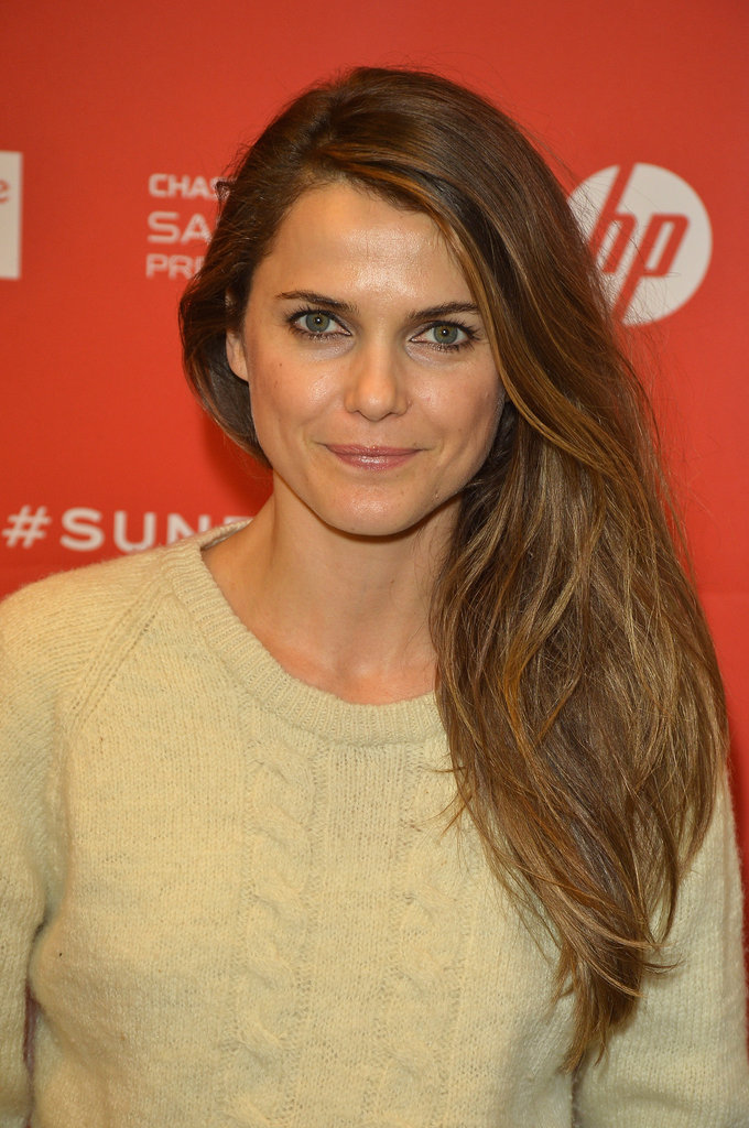 Keri Russell showed off gorgeous locks with a side part and effortless waves.