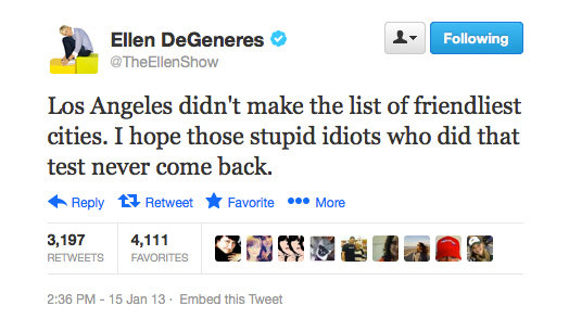 Ellen DeGeneres makes us feel so welcome. . .