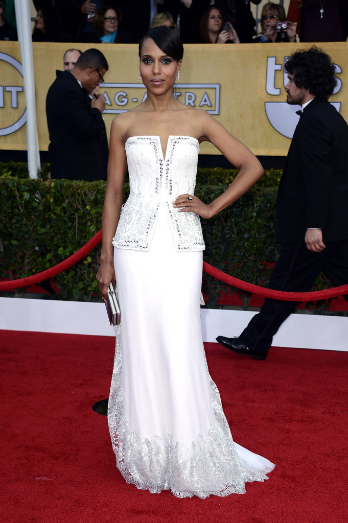 Kerry Washington wore a white Rodarte gown at the SAGs.