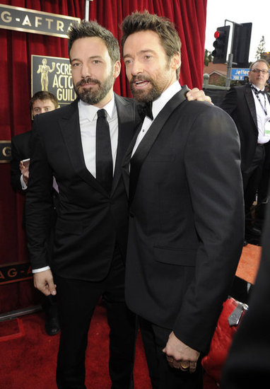Ben Affleck and Hugh Jackman posed together at the SAGs.