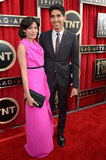 Freida Pinto hit the red carpet with Dev Patel at the SAG Awards.