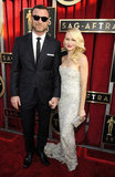 Noami Watts held hands with Liev Schreiber on the red carpet at the SAG Awards.
