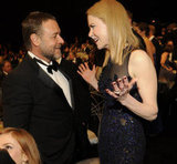 Russell Crowe and Nicole Kidman chatted.