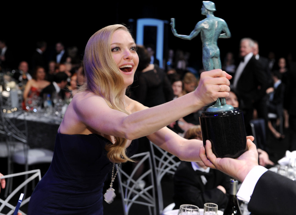 Amanda Seyfried got goofy with a SAG.