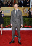 Justin Timberlake posed at the SAG Awards.