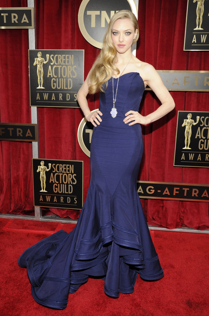 Amanda Seyfried wearing Zac Posen at the 2013 Screen Actors Guild SAG Awards