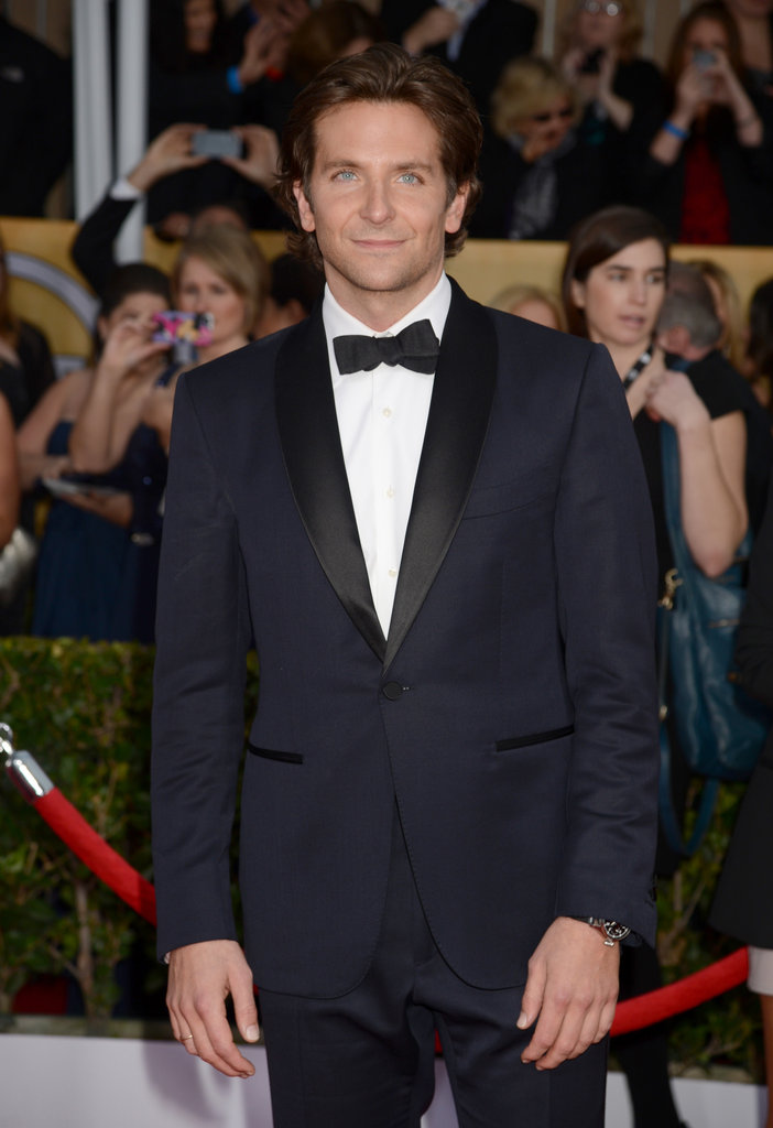 Bradley Cooper looked dapper in a tux at the SAG Awards.