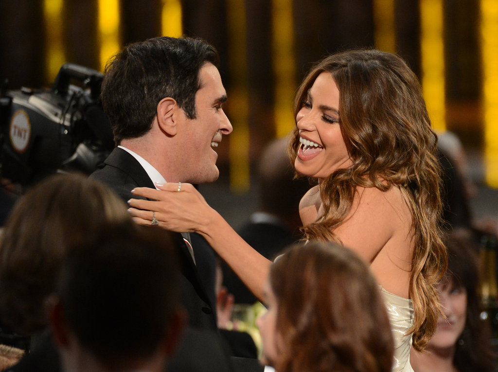 Sofia Vergara and Ty Burrell celebrated their Modern Family win.