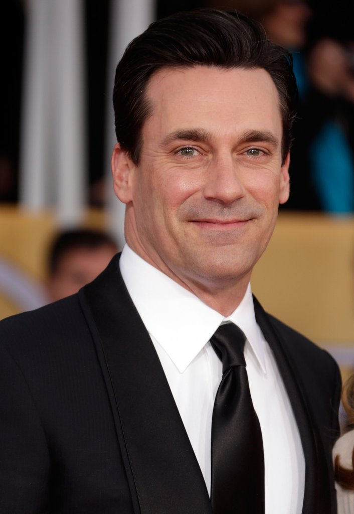 Jon Hamm arrived at the 19th Annual SAG Awards Sunday.