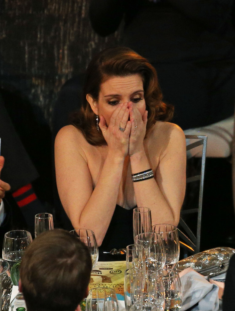 Tina Fey got excited about her big win.