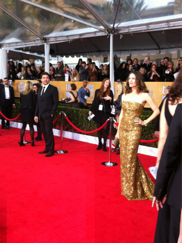 First look at Jennifer Garner in Oscar de la Renta. Source: Twitter user TNTweknowdrama