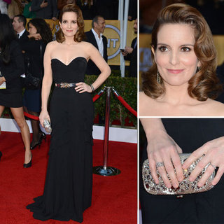 Tina Fey: SAG Awards Red Carpet Dresses 2013