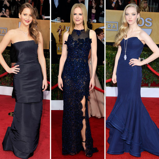 SAG Awards 2013 Red Carpet Navy Dresses Trend