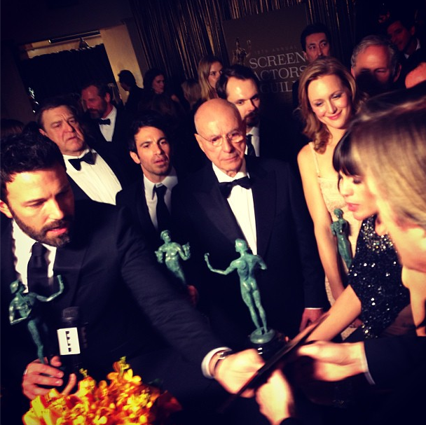 The cast of Argo got their gift. Source: Instagram user sagawards