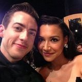 Kevin McHale posed with his Glee costar Naya Rivera. Source: Instagram User kevinmchale