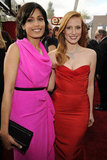 Freida Pinto and Jessica Chastain