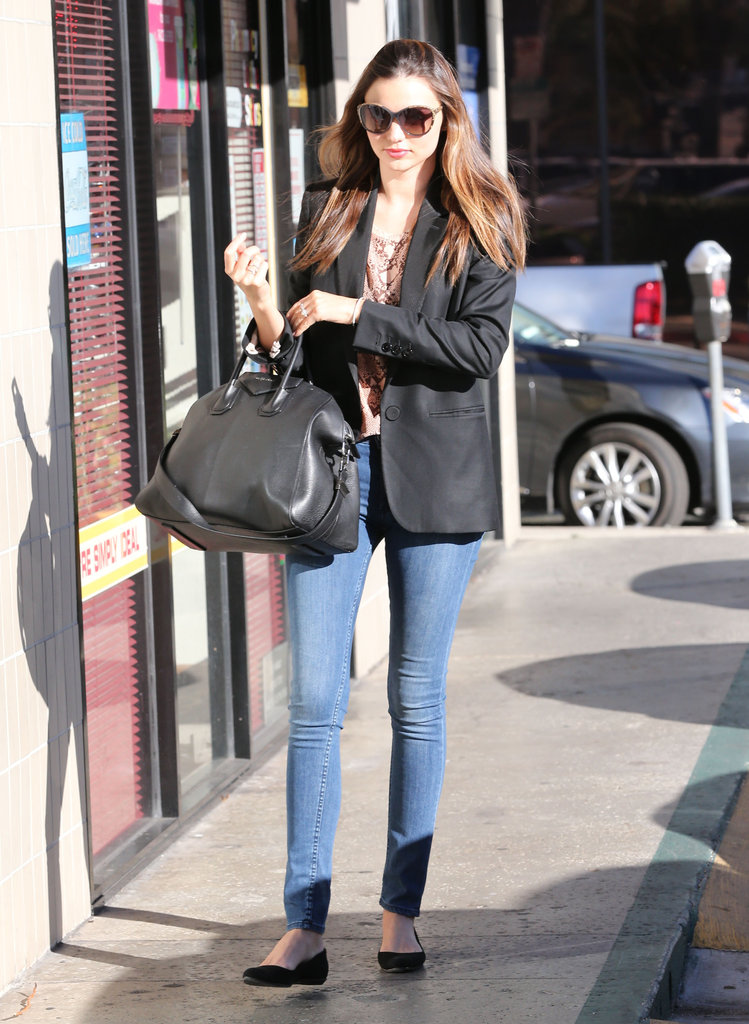 Miranda Kerr got her nails done in LA.