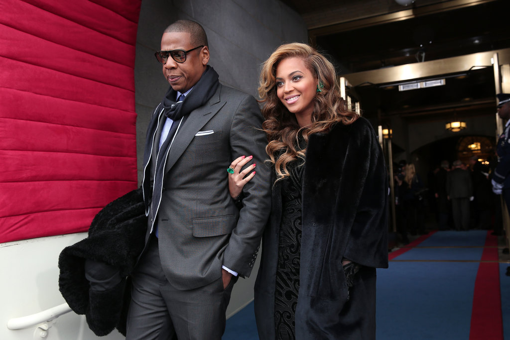 Power couple Jay-Z and Beyonce arrived at the presidential inauguration arm in arm Monday.