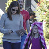 Jennifer Garner Runs Errands With Violet in a Fuzzy Hat