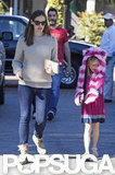 Jennifer Garner Takes a Crazy-Hat-Wearing Violet Out Shopping