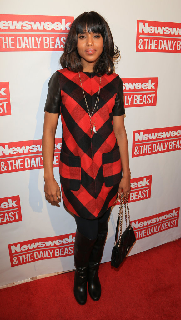 Django Unchained actress Kerry Washington posed on the red carpet for The Daily Beast's Bi-Partisan Inauguration Brunch.