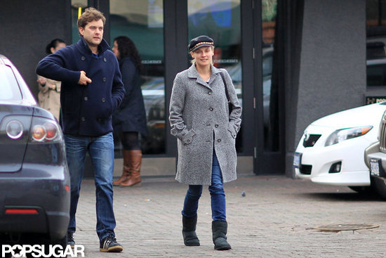 Joshua Jackson and Diane Kruger went to a sports bar together in Vancouver.