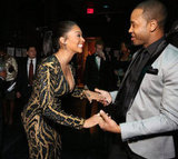 La La Anthony greeted actor and TV personality Terrence J at the Hip-Hop Inaugural Ball Sunday evening.