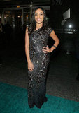 Rosario Dawson attended the Hip-Hop Inaugural Ball wearing a black sequined, one-shouldered gown.