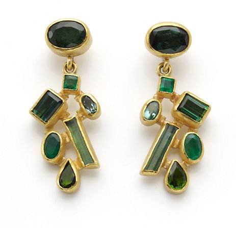 Gump's Petra Class Tourmaline Emerald Earrings ($3,350) are a splurge, but you'll be able to wear them forever.