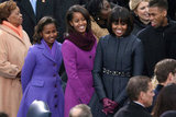 Barack Obama's ladies were looking lovely.