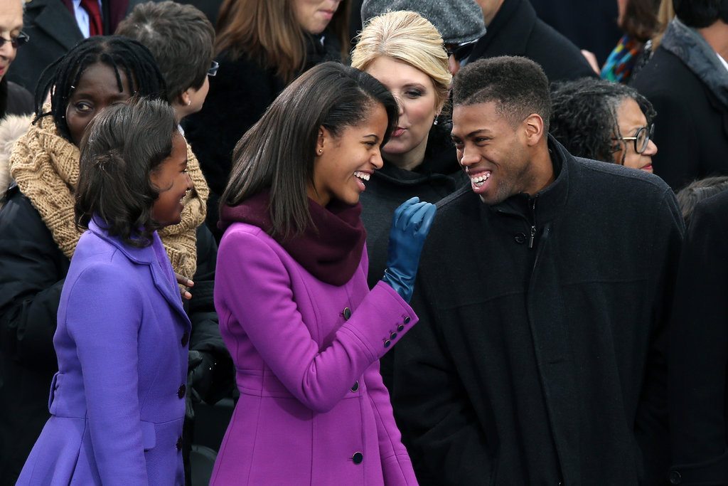 Sasha and Malia Obama enjoyed themselves at the inauguration.