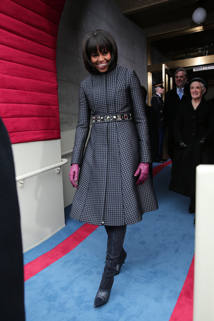 First Lady Michelle Obama made her stylish arrival.