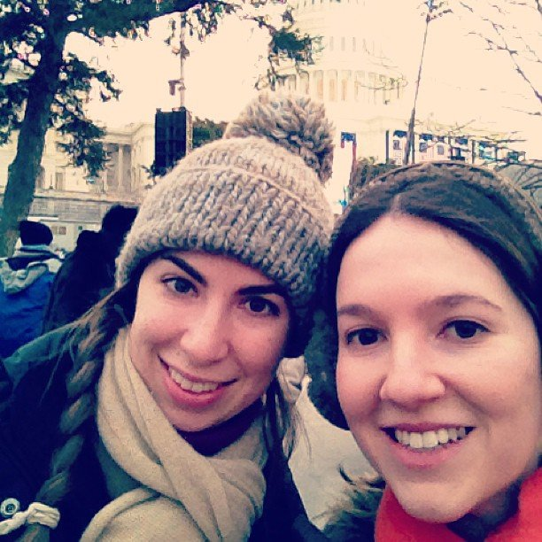 """2013 presidential inauguration — we made it!"" Source: Instagram user sara125g"
