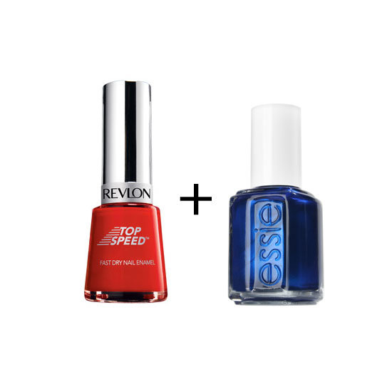 Revlon Nail Enamel Top Speed in Fire ($15.95) + Essie Nail Polish in Aruba Blue ($18.95)