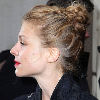 Clemence Posey's Braided Top Knot at the Chanel Show