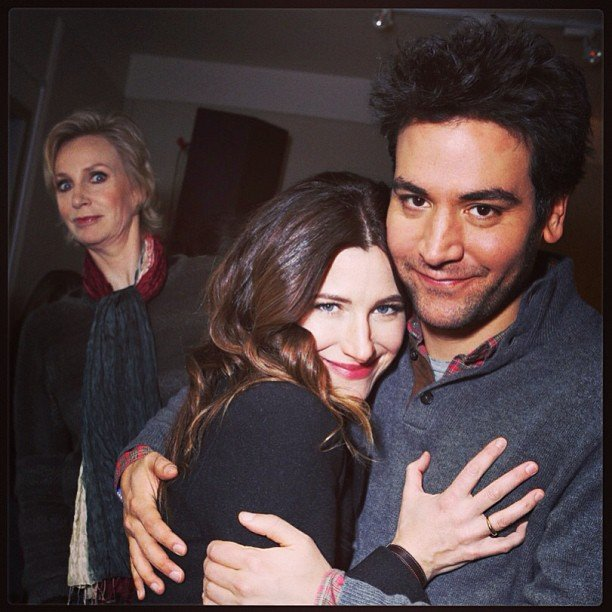 Jane Lynch photobombed her Afternoon Delight costars Kathryn Hahn and Josh Radnor at Sundance. Source: Instagram user instylemagazine