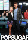 Julianne Hough and Josh Duhamel posed together in Toronto.