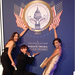 Eva Longoria and Ken Paves posed near a sign at The Inauguration Ball on Monday.