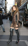 Jennifer Lopez wore leather boots in NYC.