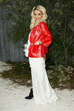 Rita Ora posed for photos on Tuesday at the Chanel Spring/Summer 2013 Haute Couture fashion show.