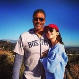 Rick Fox and Eliza Dushku went hiking in their Boston gear. Source: Twitter user elizadushku