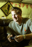 Prince Harry played video games with a fellow pilot in November.