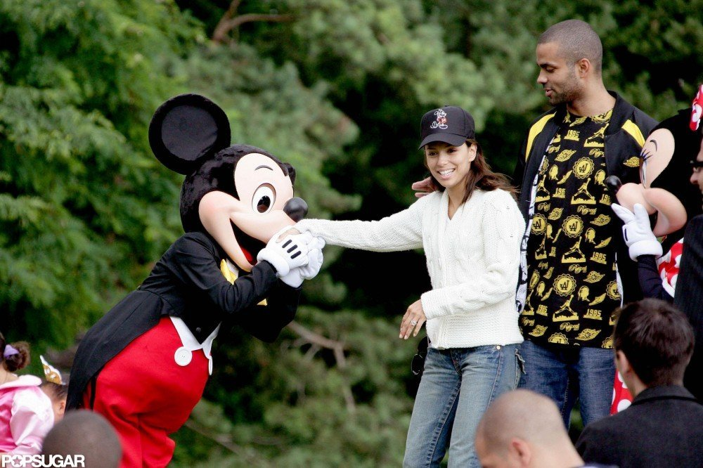 In July 2007, Eva Longoria and Tony Parker visited Mickey and Minnie in Paris.