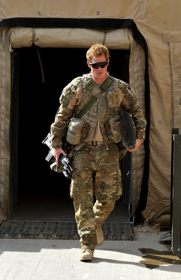 Prince Harry walked through Camp Bastion in Afghanistan in October 2012.
