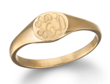 This is definitely going a more traditional meets low-key route, but there's something very personal and unique about a ginette_ny mini-signet monogram ring ($685) — get one for you and your significant other.